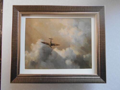 David Shepherd Aircraft print /'Immortal Hero/' Spitfire  FRAMED