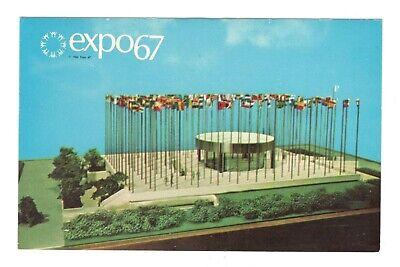 United Nations Pavilion Expo 67 Montreal Canada Unused Postcard