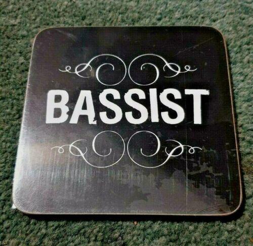 BASSIST BASS PLAYER BASS GUITAR BAND MUSIC New Sealed Coaster 10cm x 10cm