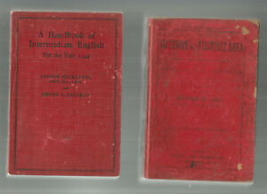 HANDBOOK-OF-INTERMEDIATE-ENGLISH-1944-HISTORY-OF-AUSTRALASIA-1901-Jose-2-BOOKS