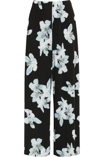 Ladies Womens Wide Leg Floral Print Summer Palazzo Pants Trousers Plus Size