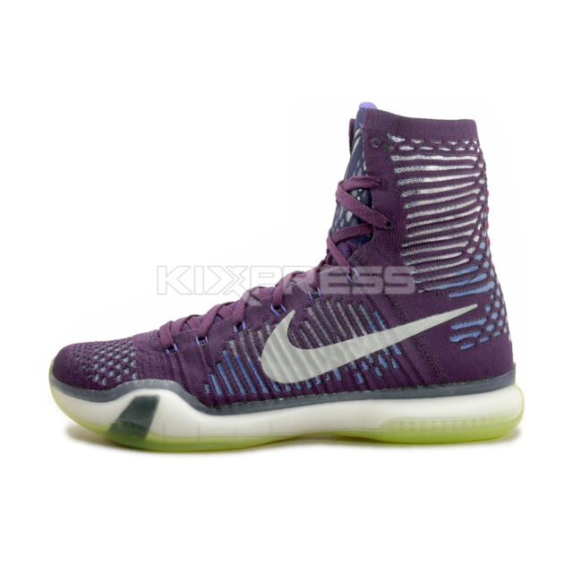 Nike Kobe 10 X Elite Ink Purple High Top Basketball Shoes Size 8.5 ... 583ee57d4c8f