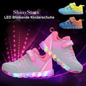 kinder m dchen junge kinderschuhe led licht sneakers. Black Bedroom Furniture Sets. Home Design Ideas