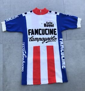 Image is loading Vintage-80s-Famcucine-Campagnolo-Wool-Cycling-Jersey-Shirt- a99d0b456