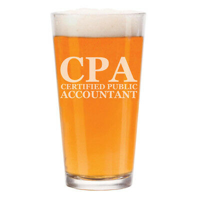 16 oz Beer Pint Glass CPA Certified Public Accountant