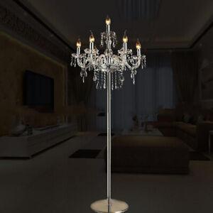 K9 Veritable Cristal Lustre Lampadaire Lampe De Table Clair