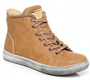 Sport Wedge Snakeskin Size Boot Sneaker Tan New Trainer Women Ankle Pump Hitop 85UIwaq