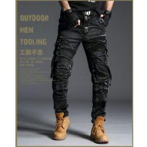 Pantalones Tactico Trabajo Camo Para Hombre Militar Del Ejercito Multi Bolsillos Ebay