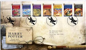 """""""Harry Potter"""" ROYAL MAIL FDC With #SG2750-2756 Strip of 7 ***FREE SHIP***"""