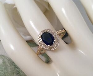 Vintage-Jewellery-Gold-Ring-with-Blue-White-Sapphires-Antique-Deco-Jewelry-10-U