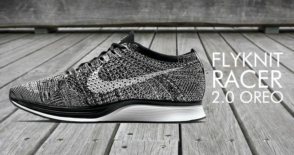 150 NIKE FLYKNIT RACER OREO MEN NEW WITHOUT BOX