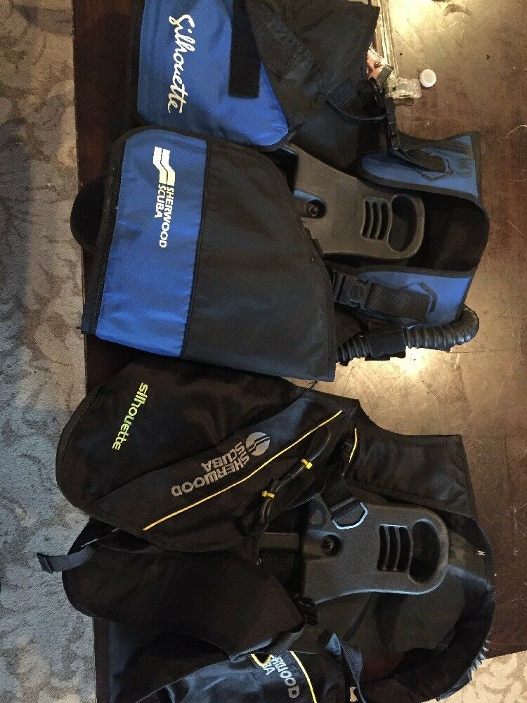 LOT OF 2 SHERWOOD SILHOUETTE BC Dive BCD's SCUBA Diving