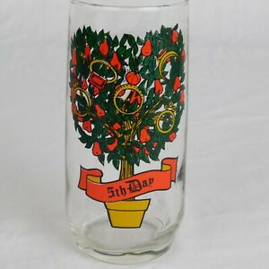 5th Day Golden Rings 1970s Pepsi 12 DAYS OF CHRISTMAS 16oz Collectible Glass