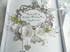 Details About Handmade Personalised Card Wedding Day Anniversary Engagement Gift Box 71