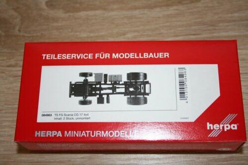 Herpa 084963-1//87 Fahrgestell Scania 4x4 Zugmaschine Inhalt Neu 2 Stück