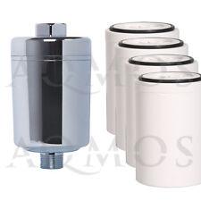 1 Duschfilter Chrom + 4 Wechselfilter Kalkfilter Allergie Reisefilter Chlor Rost