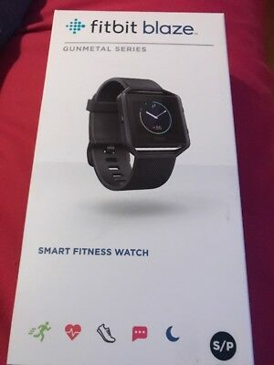 Gunmetal Series FITBIT Blaze Bluetooth Fitness Watch Small  Brand New-Sealed