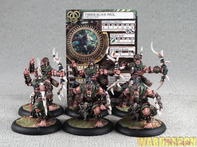 40mm Horder WDS målade Circle Orbgulds Tharn Blood Pack x68