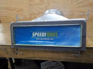 Speedi-Boot SBH-8107 FB 8-Inch Width by 10-Inch Length to 7-Inch Diameter 45-Degree Register Vent Boot with Adjustable Hangers
