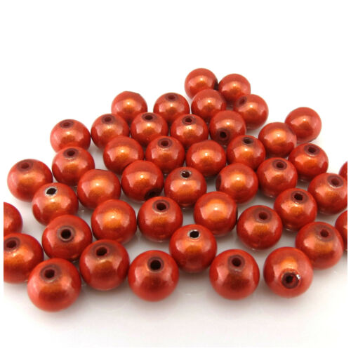 80PCS 6 mm 3D ilusión milagro Redondo Abalorios acrílicos para la fabricación de joyas