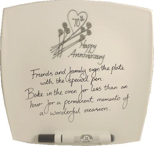 Buy 70th Wedding Anniversary Gift Square Plate Flower Online Ebay