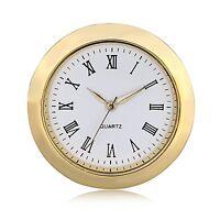 Mini Clock Insert Quartz Movement Round 1 7/16 Miniature Clock Fit Up Roman