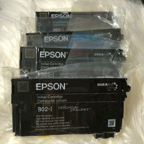 New Genuine EPSON 802 initial Black /& Color 4 Ink set for 4720 4730 4734 4740