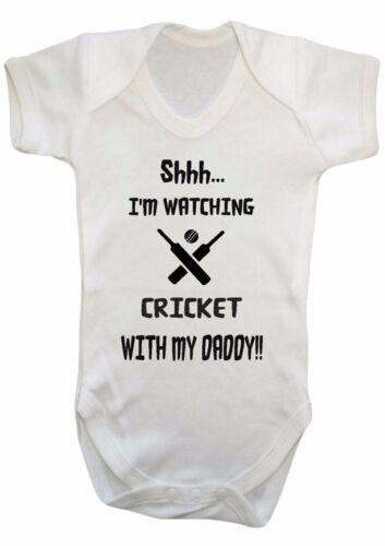gilet ange cadeau fille chut je suis actuellement l/'évolution de cricket avec mon papa body Bébé garçon