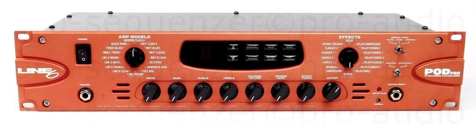 Line 6 Pod Pro Guitar Amp Modeling Processor Classics + 1.5 J Garantie