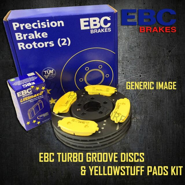 NEW EBC 264mm REAR TURBO GROOVE GD DISCS AND YELLOWSTUFF PADS KIT PD13KR330