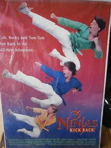Authentic Movie Poster 1994 3 Ninjas Kick Back Victor Wong ...