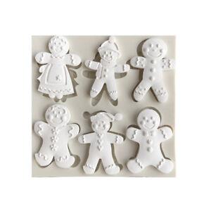 Silicone-Christmas-Gingerbread-Man-Fondant-Mold-Cake-Sugarcraft-Baking-Mould-DIY