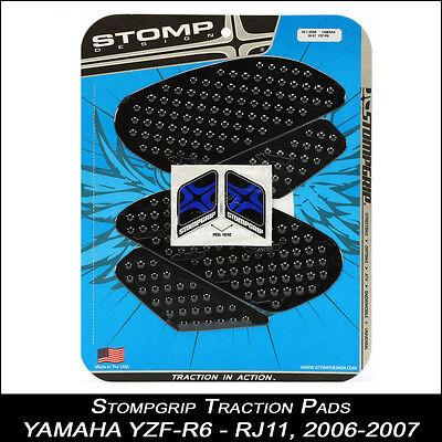YAMAHA R6 RJ11 06-07 STOMPGRIP schwarz