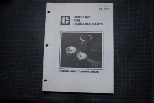 CAT Caterpillar Reusable Parts Guide Piston Cylinder Liner Manual service shop
