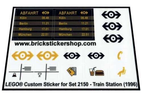 Train Station Lego® Custom Pre-Cut Transparant Sticker for Train set 2150