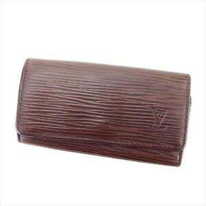 Louis-Vuitton-Key-holder-Key-case-Epi-Brown-Woman-unisex-Authentic-Used-T6035