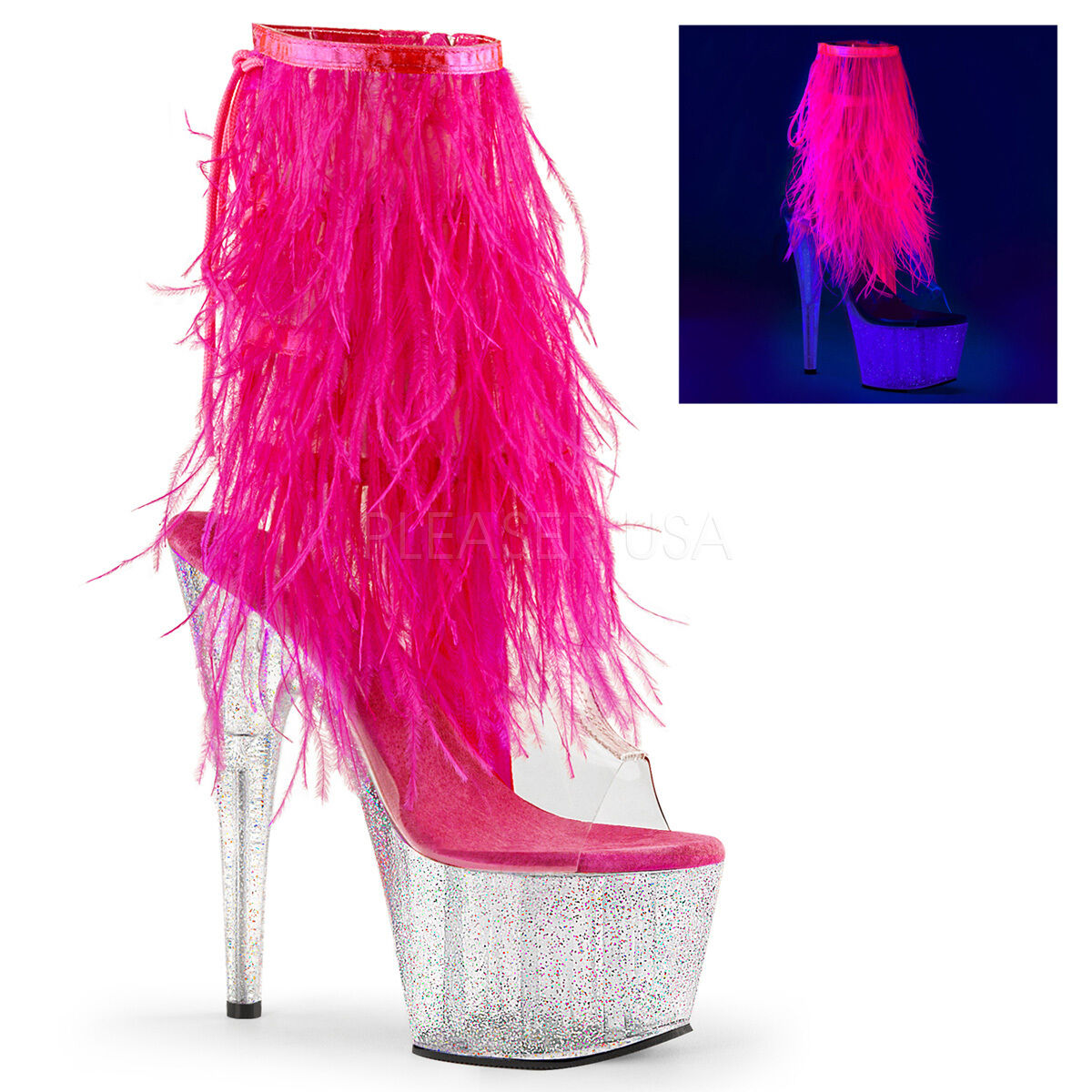 PLEASER PLEASER PLEASER ADORE-1017MFF Exotic Dancing Ankle Mid-Calf Boots c27e13