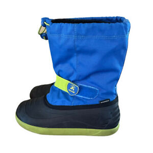 Kamik Kids **Youth Size 4** Blue Snow Winter Boots Fair Condition