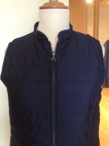 14 Size Blue Gilet Now Bianca Navy Dots Polka £38 95 Rrp With £84 Bnwt npEYqq5w