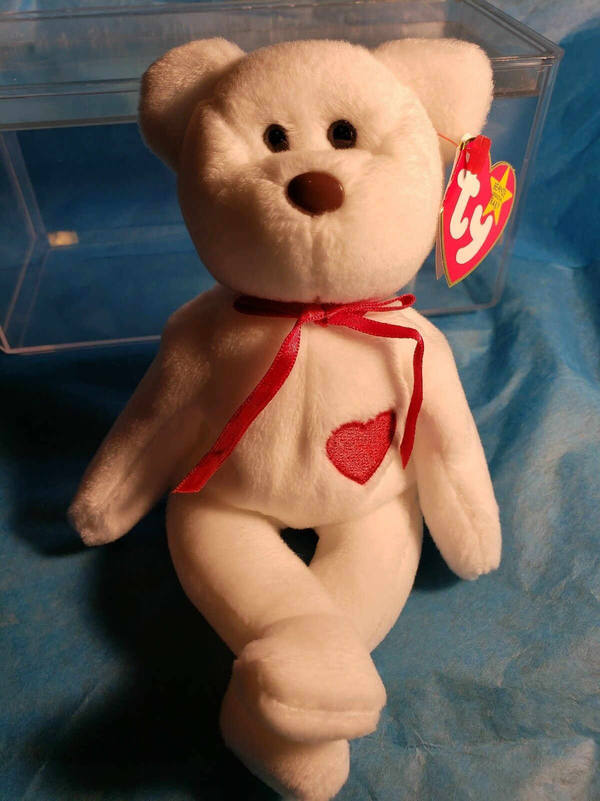 Ty Beanie Babies RARE Retired Valentino w Tag Errors PVC 1st EDITION 1993 NEW