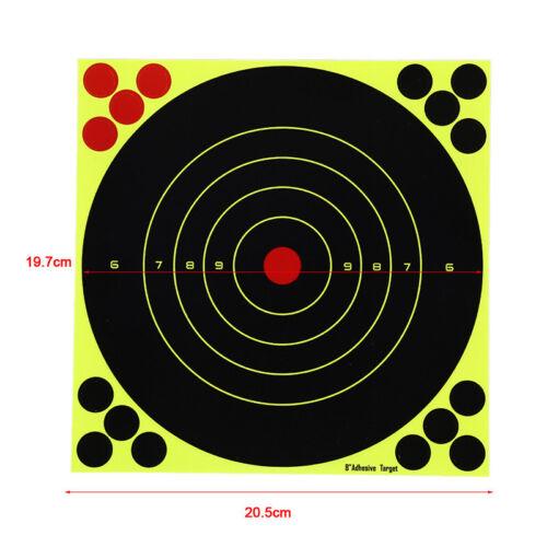 10 Fogli//Set Tiro Bersagli Glow fluorescente Carta di destinazione per la caccia FRECCIA US