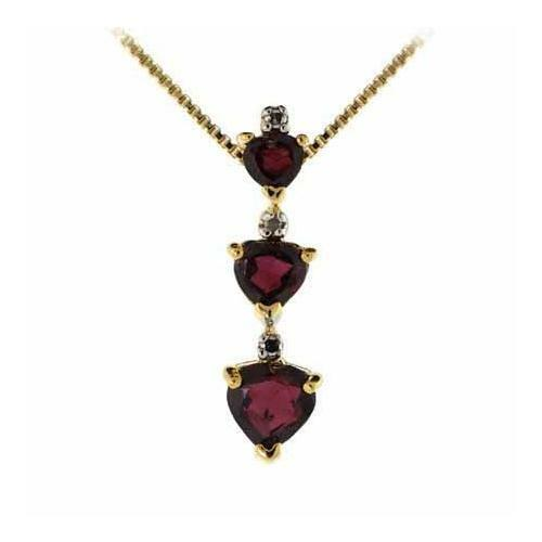 18k gold over 925 silver three stone garnet diamond accent heart 18k gold over 925 silver three stone garnet diamond accent heart pendant 18 ebay aloadofball