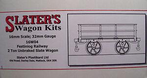 Slaters-16W04-Ffestiniog-2-Ton-Unbraked-Slate-Wagon-Kit-16mm-Scale-32mm-Gauge-T4