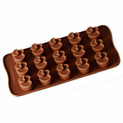 Double Heart Love Candy Silicone Chocolate Mold Cake Fondant Tray mould ICE Cube