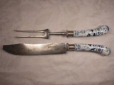 altes Besteck Vorlegebesteck Tranchierbesteck Gabel und Messer Zwiebelmuster