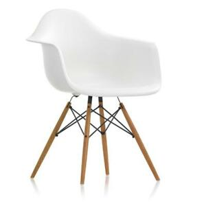 Details about Vitra - SEDIA DAW - Charles & Ray Eames - BIANCO - ACERO  GIALLASTRO