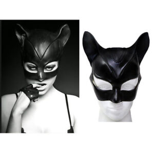 Deluxe Catwoman Mask The Dark Knight Rises Latex Masks Halloween Cosplay Ladies