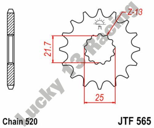 JT 14 tooth front sprocket for Kawasaki ER-6 KLE Suzuki SFV SV Yamaha DT WR XT