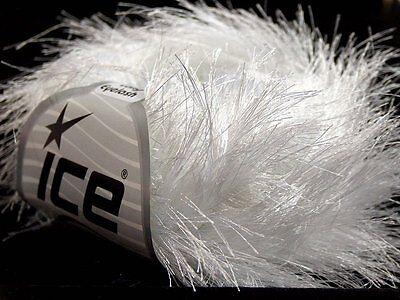 38Yd Dark Maroon Extra Long Eyelash Yarn #13272 Ice Luxurious Fun Fur 50gram