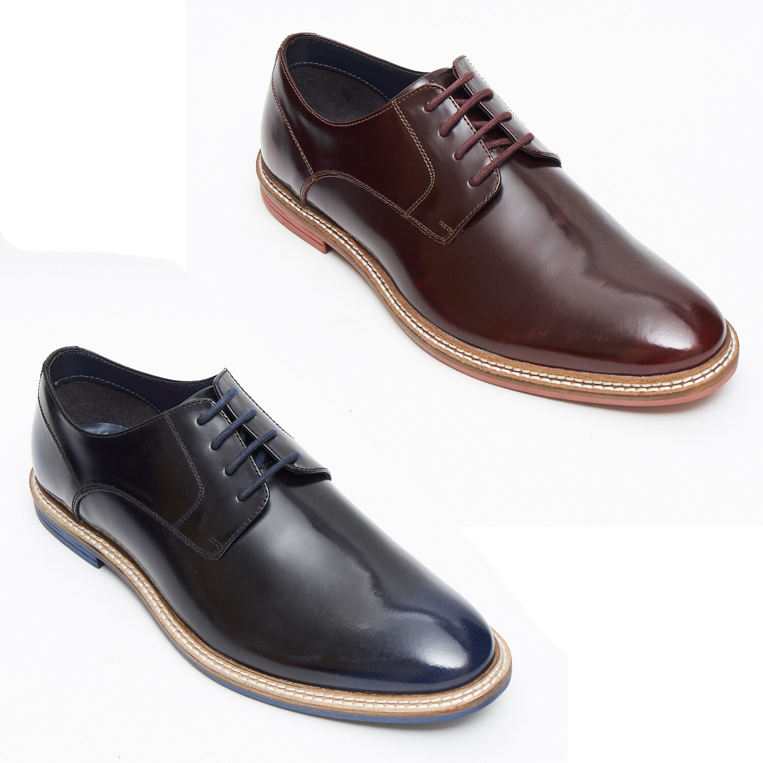 Lucini Leather Mens Derby Designer Handmade Leather Lucini Shoes 35c94e